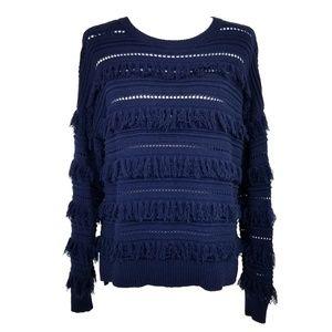 Michael Kors Fringe Sweater  EUC